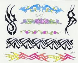 tribal band color from itattooz