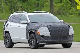 trackhawk jeep cherokee 2018 jeep cherokee prototype hints at single unit headlights