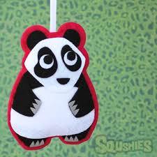 laurence the panda felt ornament squshies
