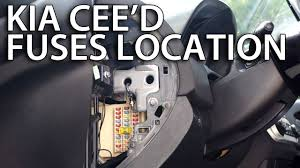 where are fuses and relays in kia cee u0027d how to find location