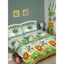 jungle tastic double duvet cover and pillowcase set bedroom