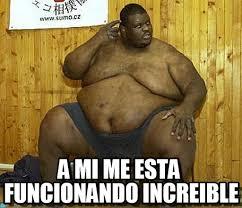 Gordo Meme - a mi me esta funcionando increible gordo ahh meme on memegen
