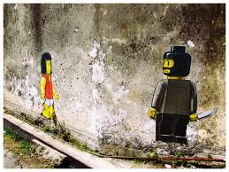 penang street art the lego stickers street art street and penang street art the lego stickers