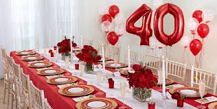 40th anniversary ideas ruby 40th wedding anniversary party supplies party city