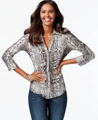 snake print blouse inc international concepts snakeskin print ruched button front