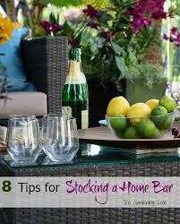 At Home Bar How To Set Up A Well Stocked Home Bar The Gardening Cook