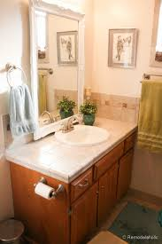vanity bathroom ideas remodelaholic updated bathroom single sink vanity to sink