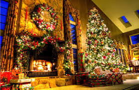 christmas fireplace mantel decoration ideas for home made pictures