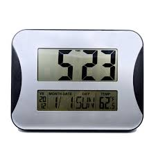 hippih large lcd digital wall clocks electronic alarm clocks big