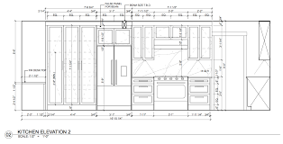 interesting idea kitchen elevation of cad dwg dimensions design