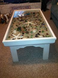 Glass Coffee Tables by Sand Star Fish Sea Shells Drift Wood And Sea Glass Coffee Table