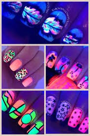 30 eye catching glow nail art designs neon nail polish neon