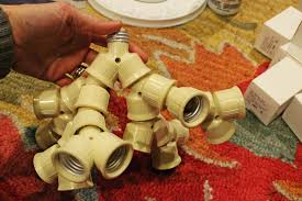 Ceiling Light Sockets Diy Ceiling Light Fixture Made With Branched Out Socket Splitters