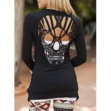 cardigan skull skull sweater black alternative cut offs
