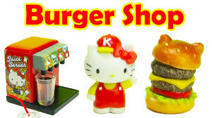 kitchen collectables hello kitty burger shop rement collectibles youtube
