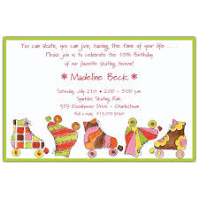 ready to roll skating birthday invitations paperstyle