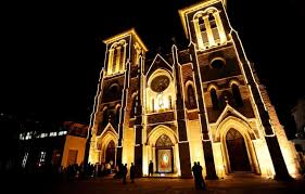 san fernando cathedral light show cityscape san fernando cathedral san antonio express news