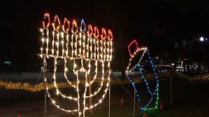 hanukkah lights decorations lighting hanukkah candles 6th stock footage 3156553