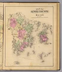 Maine County Map Knox Co Maine David Rumsey Historical Map Collection