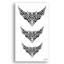 black temporary water transfer tribal totem stickers