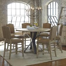 progressive furniture shenandoah 7 piece round table and chair set