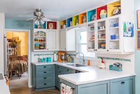 Turquoise And Orange Kitchen by Kitchens In Bloom The Stock U0027s Kitchen Como Livingcomo Living