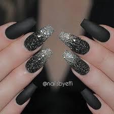 Black Manicure Designs With Tashy On Instagram A Matte Black Manicure
