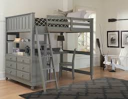 steinhafels sedona twin over full loft bed with desk end