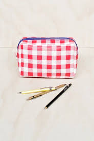 delfonics pouch delfonics gingham pouch box gingham and pouches
