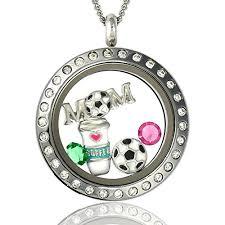 floating locket necklace images Soccer mom floating charms locket magnetic pendant necklace jpg