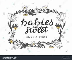 baby shower sign baby shower sign decoration grey white stock vector 513113620