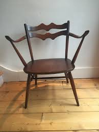 Ercol Armchairs Vintage Ercol Armchair Model 493 Windsor Dining Arm Chair 1965