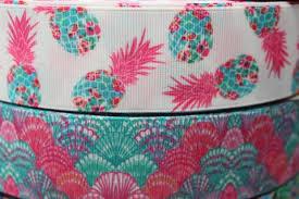 ribbon grosgrain 1 5 nautical pineapple grosgrain ribbon grosgrain ribbon by the