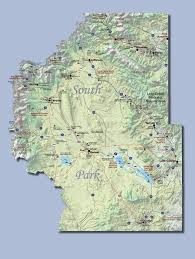 Colorado River On A Map by County Maps Park County Co