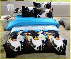 luxury 3d animal horse painting bedding kids ladies girls boys
