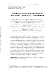 membrane bioreactors for industrial wastewater treatment a