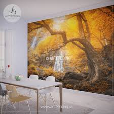 wall murals peel and stick self adhesive vinyl hd print artbedding autumn waterfall wall mural photo wall mural self adhesive peel stick nature wall