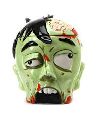 cookie jar zombie head for the perfect halloween decoration