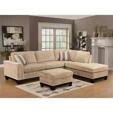 Living Room Ottoman by Furniture Yosemite Sectional Sofa In Cream With Storage Ottoman