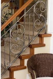 decor cool home interior decoration with wrought iron railing
