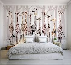 home decor giraffe mural wallpapers home decor photo background wallpaper photography