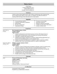 Teacher Resume Template For Word by Teacher Cv Example For Education Livecareer