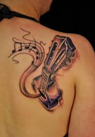 tattoo 3d guitar 60 awesome music tattoo designs acoustic guitar music notes and