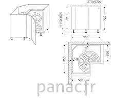 hauteur d un meuble de cuisine profondeur standard plan de travail cuisine plan de travail en