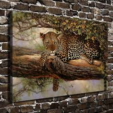 leopard decor for living room c dw80 natural scenery forest animals leopard hd canvas print home