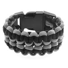 black survival bracelet images Wide double cobra paracord bracelet black and grey beadaholique jpg