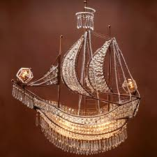 pirate ship light fixture crystal ship chandelier from zgallerie i don t think you can even