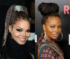 womens hairstyle the box style box braids with bangs hairstyle big box braids for black women to