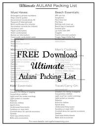 packing list form ultimate aulani packing list top form teaching