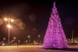 Christmas Tree Made Of Christmas Lights - gallery of christmas tree made of sledges hello wood 6
